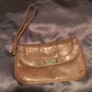 Jessica Simpson Brown/Tan Wristlet- NWOT